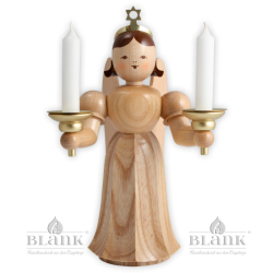 Angel with long robe with candle holder - 20 cm (7.9 inches)