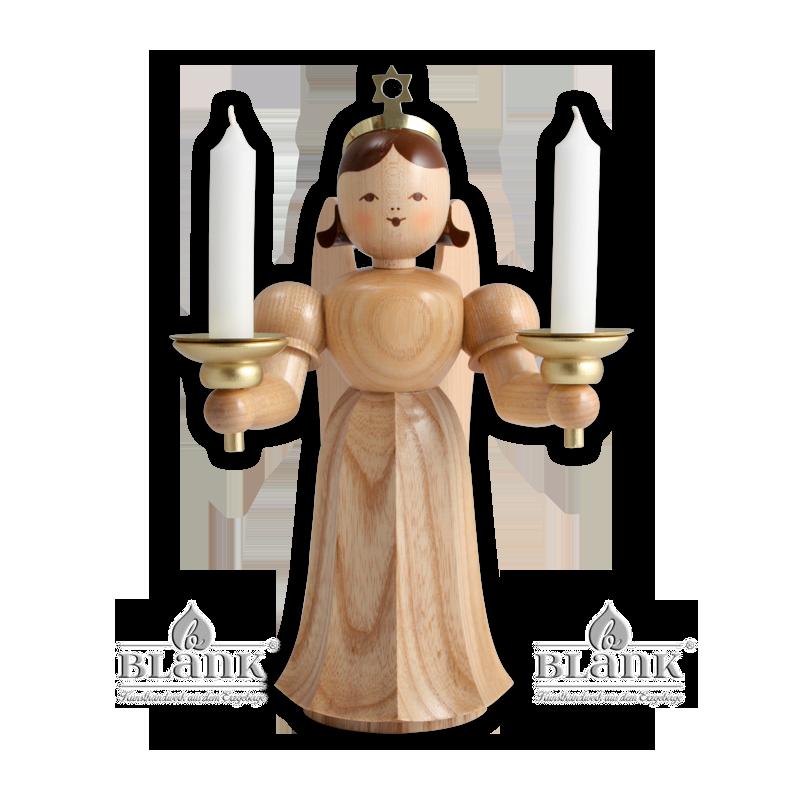 ELM 024 Langrockengel 20cm mit Kerzenhalter