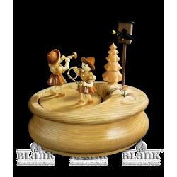 Spieldose mit Blumenmädchen, oval